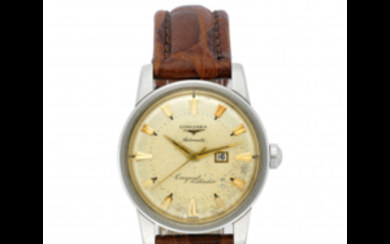 LONGINES Gent's steel wristwatch 1970s Dial, movement and case...