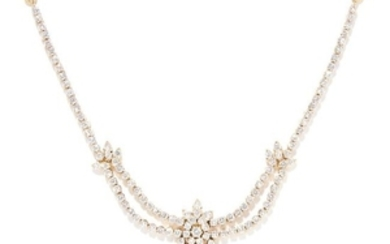10.00 CARAT DIAMOND NECKLACE in 18ct yellow gold, set