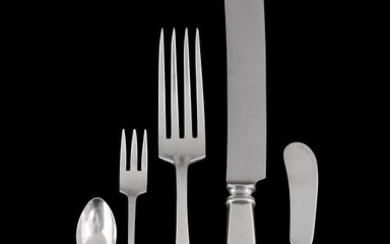 An American silver part table service by International Silver Co.