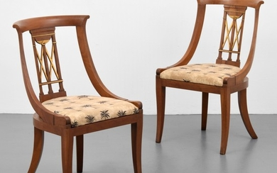 Pair of Baker Furniture Neoclassical Side Chairs - Baker Furniture