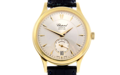 CHOPARD - a limited edition gentleman's 18ct yellow gold L.U.C wrist watch.