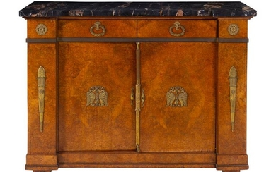 *An Empire Style Gilt Bronze Mounted Cabinet