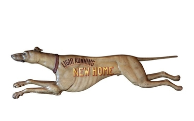 FINE AND RARE CARVED AND PAINT-DECORATED WOOD TRADE SIGN, NEW ENGLAND, CIRCA 1890