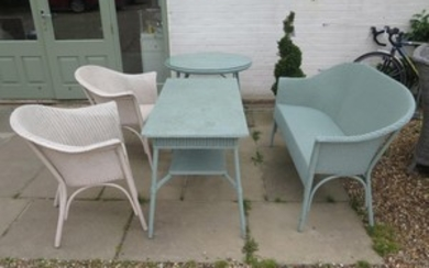 Five pieces of Lloyd Loom furniture, settee, two armchairs t...