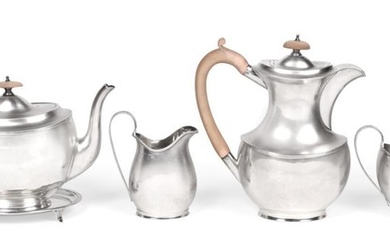 A Four Piece George V Silver Tea-Service and an Associated...