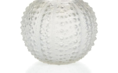 A Lalique Oursin Vase France, early 20th century Globular...