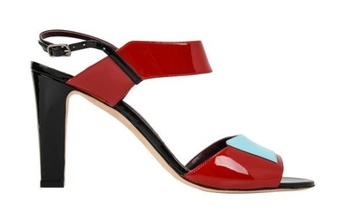 Manolo Blahnik Shoe Multi Coloured Patent Leather Red