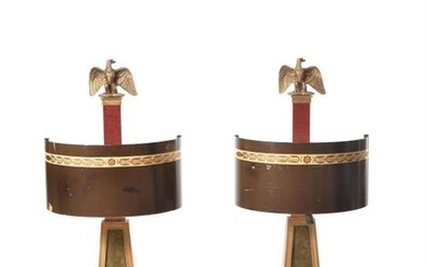 A pair of oversized French table lamps
