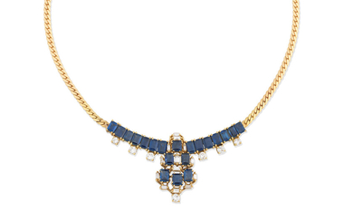 A sapphire and diamond necklace, 1986
