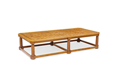 A Parquetry Top Teak Coffee Table