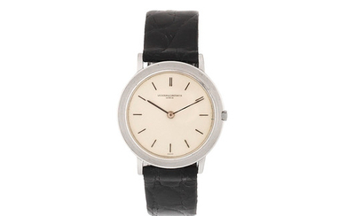 Vacheron & Constantin. A slim 18K white gold manual wind wristwatch