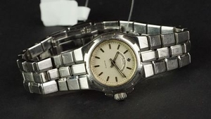LADIES' VACHERON & CONSTANTIN OVERSEAS WRISTWATCH, circular silver dial with silver hour markers and hands, interesting bezel...