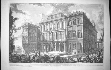 Piranesi, Giovanni: THE PALAZZO BARBERINI, Year 1749