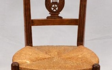 COUNTRY FRENCH, CHERRY SIDE CHAIR, C. 1900