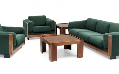 '920' SOFA AND TWO ARMCHAIRS AND TWO '771' COFFEE TABLES FOR CASSINA 1960S