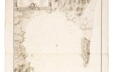Map of Gibraltar and the Algeciras Bay 1786