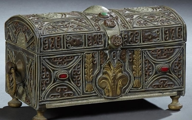 French Renaissance Style Bronze Dresser Box, 19th c.,