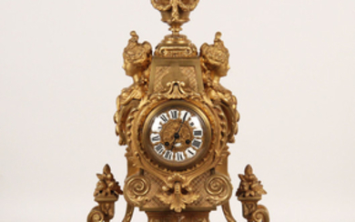 DORE BRONZE FRENCH MANTLE CLOCK