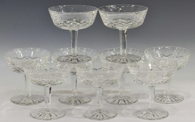 (9) WATERFORD 'LISMORE' CRYSTAL CHAMPAGNE SHERBET
