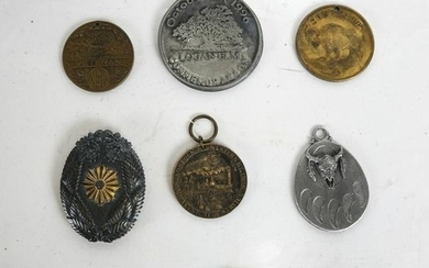 Lot of 7 Americana Medals and Pins