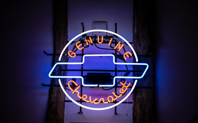 A Genuine Chevrolet neon sign