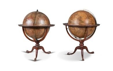 A PAIR OF GEORGE III CELESTIAL AND TERRESTRIAL FLO…
