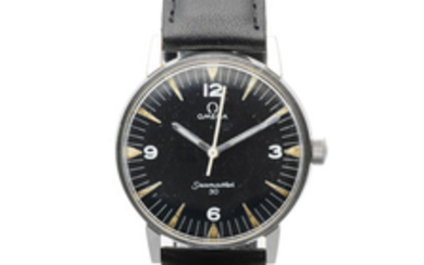 Omega. A military stainless steel manual wind centre seconds wristwatch issued to the Pakistani Air Force