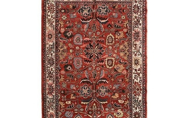 Persian Turkistan Wool Rug.
