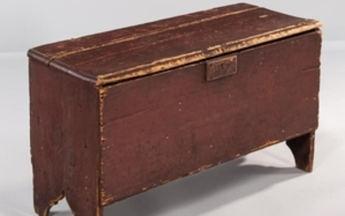 Early Red-painted Six-board Chest