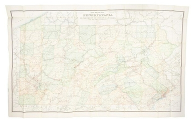 Railroad Map of Pennsylvania, 1890