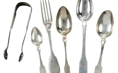 15 Pieces Maryland Coin Silver Flatware