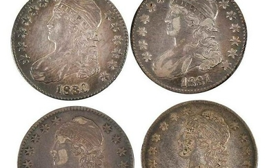 U.S. Draped and Capped Bust Silver Half Dollars
