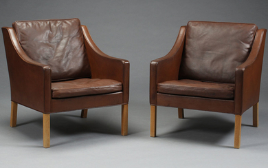 Børge Mogensen. A pair of lounge chairs, model 2207 (2)