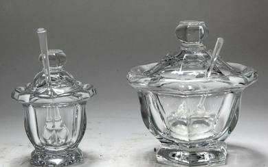 Baccarat Crystal Mustard or Condiment Pots, 2