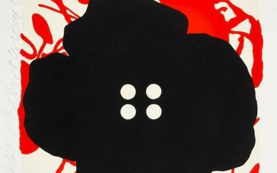 Donald Sultan - Button Flower Red Sept. 15 2014 2014