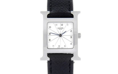 HERMÈS - a lady's Heure H wrist watch. Stainless steel