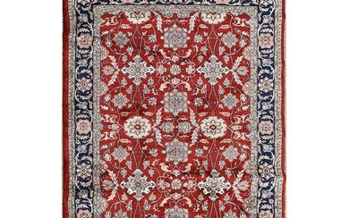 Persian Kashan Wool Rug.