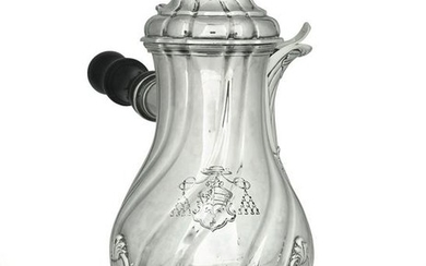 A silver coffee pot, Turin, 1800 ca.
