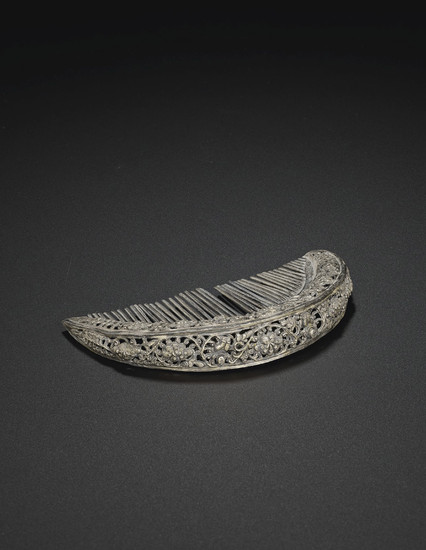 A LARGE RETICULATED SILVER COMB, SONG DYNASTY (AD 960-1279)