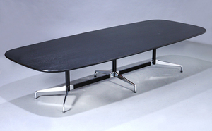 Charles and Ray Eames. Conference table, 'Segmented Table', black glazed