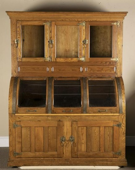 Country Store, oak ice chest/humidor cabinet.
