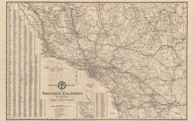 """""""Official Road Map of Southern California"""""""