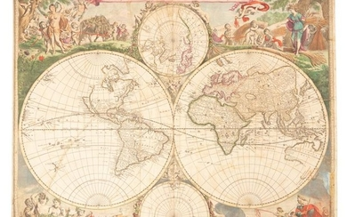 De Wit's striking world map c.1670