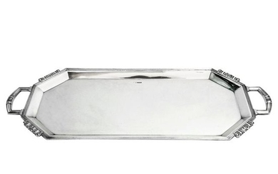 STERLING SILVER TRAY 1960 ART DECO STYLE DRINKS SERVING