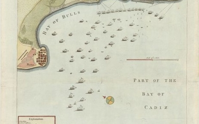 """Draught of the Bay of Bulls Between the Town of Rotta and Fort St. Catherine; Under the Command of His Grace the Duke of Ormond..."", Basire, Isaac"
