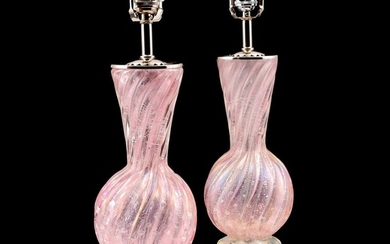 Pair of Murano Lamps Attributed to Barovier & Toso - Barovier & Toso, attributed