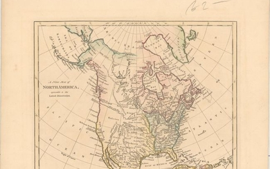 """A New Map of North America, Agreeable to the Latest Discoveries"", Wilkinson, Robert"
