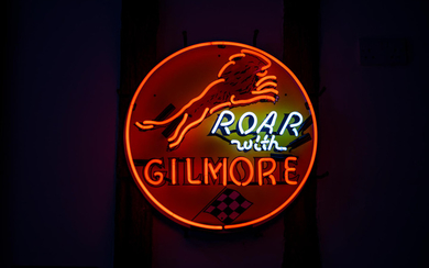 A Roar with Gilmore neon sign