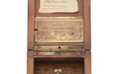 H.Williamson Ltd, 81 Farringdon Road, London. A silver keyless wind open face Observation chronometer deck watch with wooden display box