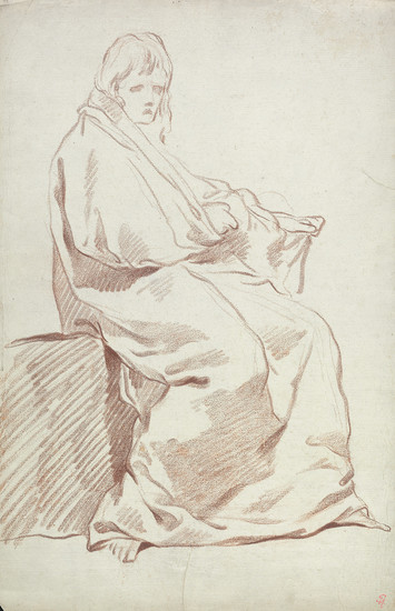 FRENCH SCHOOL, 18TH CENTURY Three red chalk figure drawings.